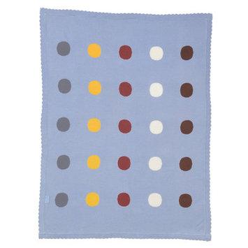 Franck Fischer Wrap Knit Blanket Color: Blue