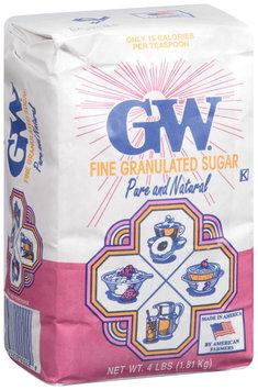 GW Pure & Natural Fine Granulated Sugar 4 Lb Bag