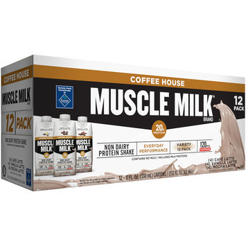 Muscle Milk® Coffee House Variety Pack Non Dairy Protein Shake 12-11 fl. oz. Cartons