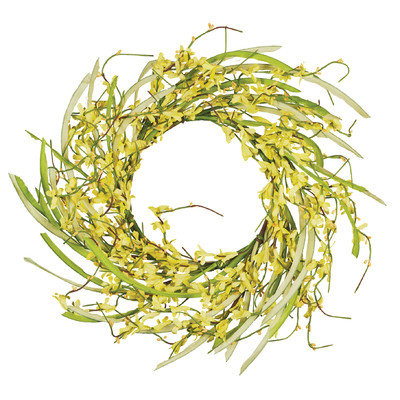 Oddity, Inc. Oddity Inc. 29538 6 in. Forsythia Candle Ring - Pack of 2