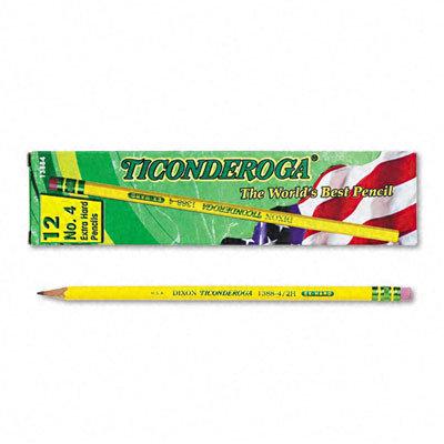 Dixon Ticonderoga Co. Dixon Ticonderoga 13884 Woodcase Pencil 2h 4 Yellow Barrel Dozen