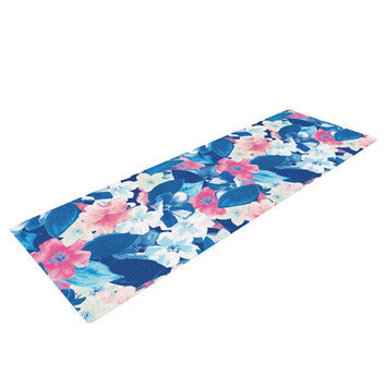 Kess Inhouse Bloom by Aimee St. Hill Yoga Mat Color: Blue