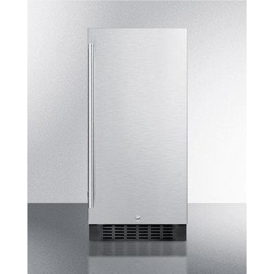 Summit Appliance 15 in. 3 cu. ft. Mini Refrigerator in Stainless Steel