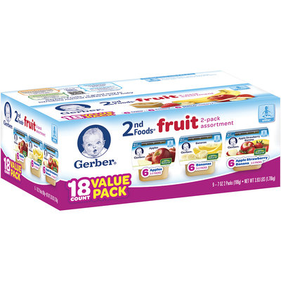 Gerber® 1st Food® Fruit 2-pack Assortment 18 ct Box