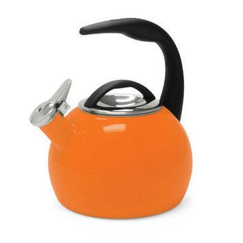 Chantal 40th Anniversary 2-Quart Enamel on Steel Tea Kettle, Orange