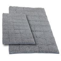 Textile Decor Castle 2 Piece 100% Cotton Summer Tile Spray Latex Bath Rug Set, 24 H X 17 W and 40 H X 24 W