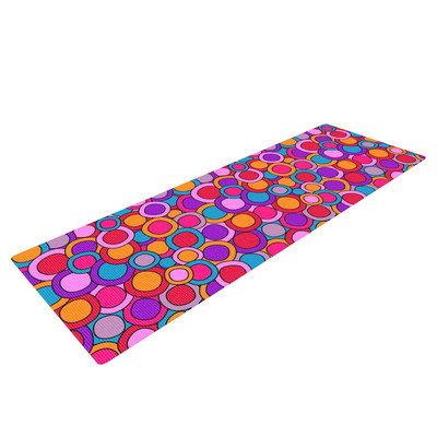 Kess Inhouse My Colourful Circles by Julia Grifol Yoga Mat