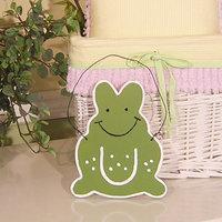 Brandee Danielle Froggy Frog Hanging Art Color: Green