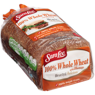 Sara Lee® Hearty & Delicious® 100% Whole Wheat with Honey Bread 24 oz. Bag