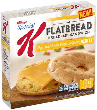 Kellogg's® Special K® Egg, Uncured Ham, Peppers & Cheese Medley Flatbread Breakfast Sandwich 13.4 oz. Box