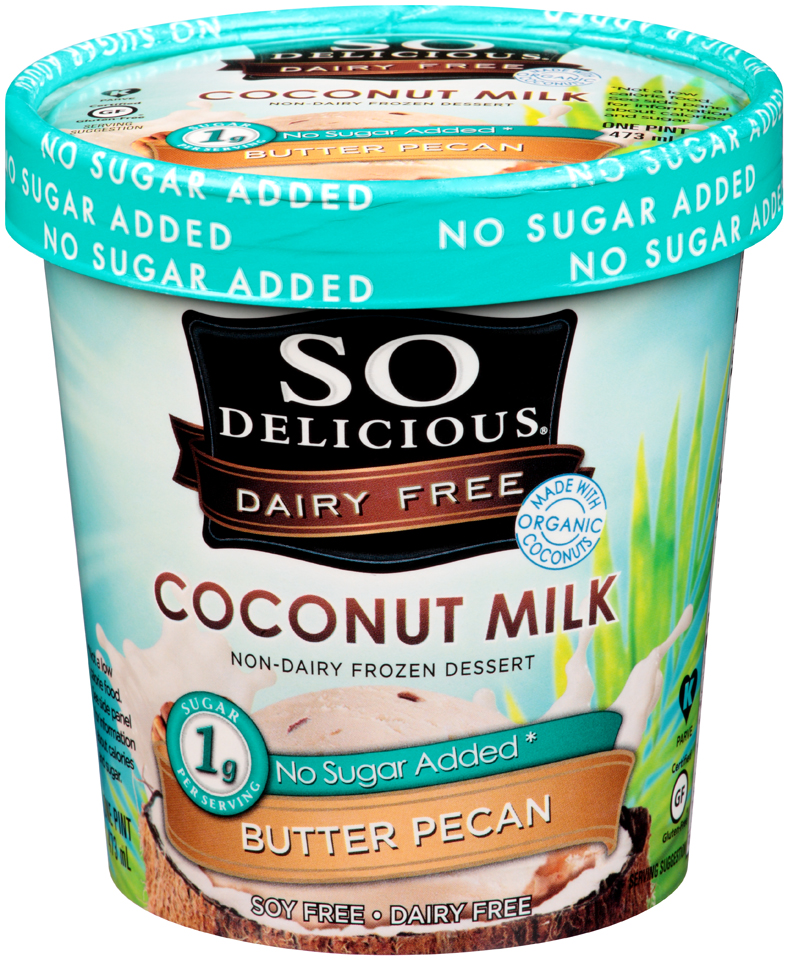 So Delicious® Coconut Milk Butter Pecan Non-Dairy Frozen Dessert 1 pt. Tub