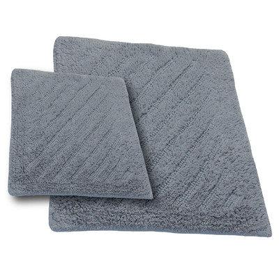 Textile Decor Castle 2 Piece 100% Cotton Shooting Star Reversible Bath Rug Set, 30 H X 20 W and 40 H X 24 W