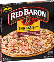 Red Baron® Thin & Crispy Crust Bacon Lovers Pizza 15.39 oz. Box