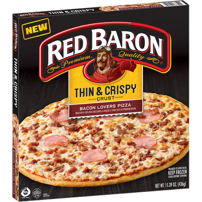 Red Baron® Thin & Crispy Crust Bacon Lovers Pizza 15.39 oz. Box