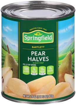 Springfield® Bartlett Pear Halves in Heavy Syrup 29 oz. Can