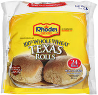 Rhodes Bake-N-Serv® 100% Whole Wheat Texas Rolls 24 ct Bag