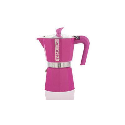 Grosche International Pedrini Espresso Maker, Pink, 6 Cup