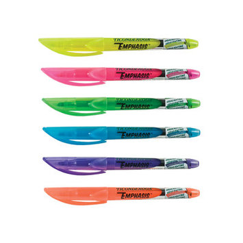Dixon Ticonderoga Highlighters Emphasis Pocket Style Fluorescent