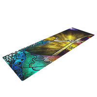 Kess Inhouse Fairy Tale off to Neverland by Mandie Manzano Yoga Mat
