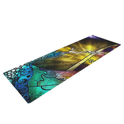 Kess Inhouse Fairy Tale off to Neverland by Mandie Manzano Yoga Mat