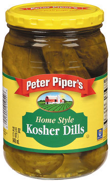Peter Piper's Home Style Kosher Dills Pickles 32 Oz Jar