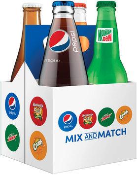 Pepsi®/Manzanita Sol®/Mountain Dew®/Orange Crush® Mix and Match 4 Pack 12 fl. oz. Glass Bottles