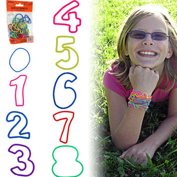 Trademark Global Games Groovy Bandzzzz Shaped Rubber Bands Design: Numbers