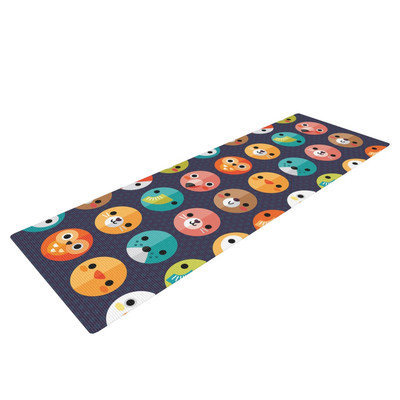 Kess Inhouse Smiley Faces Repeat by Daisy Beatrice Animal Yoga Mat