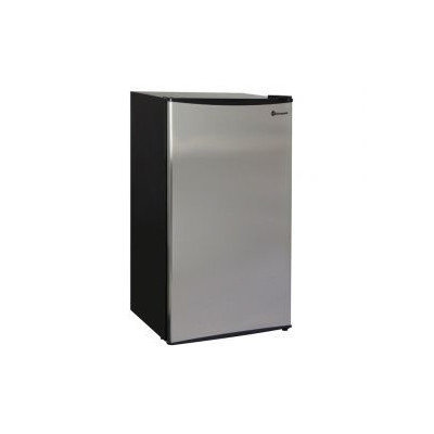 Kegco MDC330-1BS - 3.3 Cu. Ft. Refrigerator - Black Cabinet with Stainless Steel Door