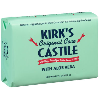Kirk's Castile Original Coco with Aloe Vera Bar Soap 4 oz. Pack