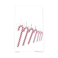 E By Design Jump for Joy Candy Canes Hand Towel Color: Gray