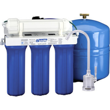 Watts Premier Five Stage EPA/ETV Verified Reverse Osmosis System with Monitor Faucet