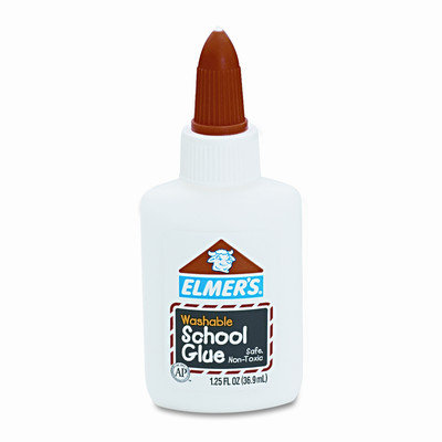 Elmers 1-1/4 Oz White School Glue
