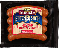 Johnsonville Butcher Shop Style Smoked Bratwurst 14oz pkg  (101875)