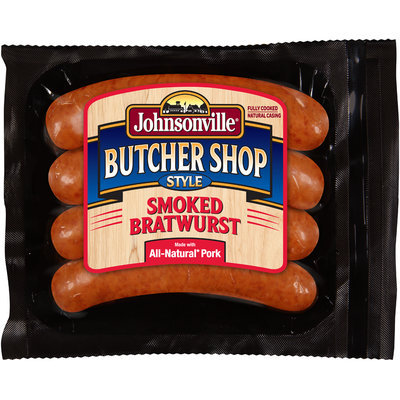 Johnsonville Butcher Shop Style Smoked Bratwurst 14oz pkg  (101875)