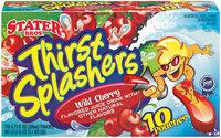 Stater Bros. Thirst Splashers Wild Cherry 6.75 Fl Oz Pouches Juice Drink 10 Ct Box