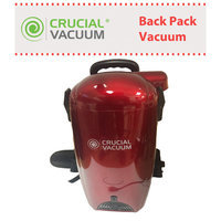 Crucial Brands Red Crucial Vacuum Back Pack Vacuum and Blower/ Includes Many Attachment Tools/ Part # Kbp01/ By Crucial Vacuum