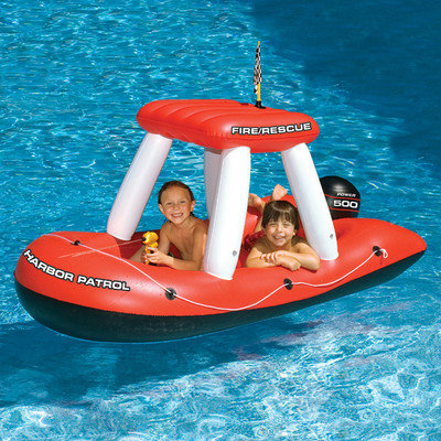Swim Time Swimline Fireboat Squirter Inflatable Pool Toy