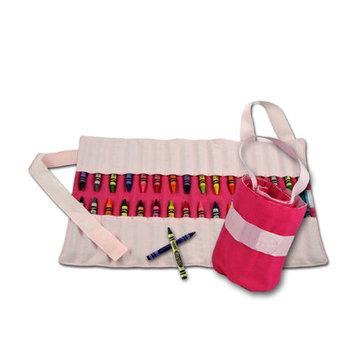 Princess Linens 160H Doodlebugz Solid Pink Crayon Keeper