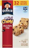 Quaker™ Chewy® Mini Chocolate Chip Granola Bars 15.8 oz. Box