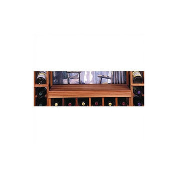 Wine Cellar Designer Table Top for Below Glass Rack Finish: Midnight Black Stained Premium Redwood