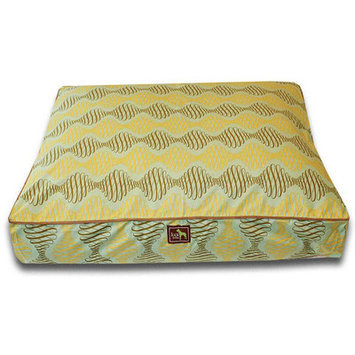 Luca For Dogs Spirals Easy-Wash Cover Rectangle Bed - Size: Medium - 28 L x 36 W