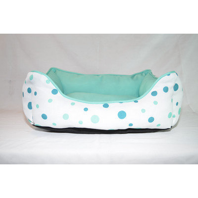 Happy Tails Luxurious Twill Polka Dot Dog Cuddler Color: Corsican Blue/Magenta