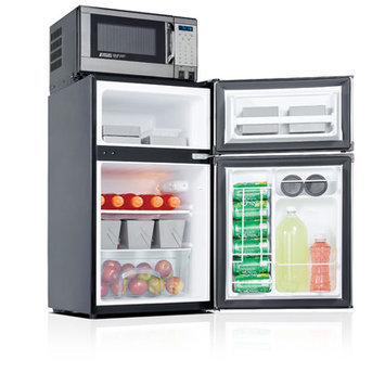 Microfridge Safe Plug 3.1 cu. ft. Freestanding Combination Mini Refrigerator and Microwave Color: Stainless Steel