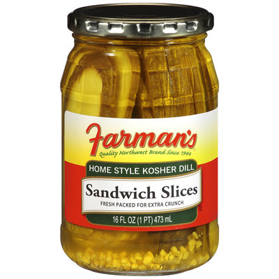 Farman's®Home Style Kosher Dill Sandwich Slices 16 fl oz Jar