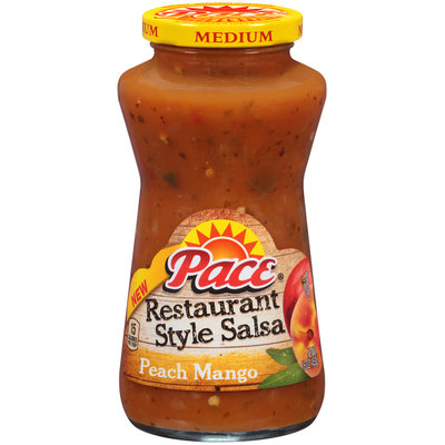 Pace® Medium Restaurant Style Peach Mango Salsa 16 oz. Jar