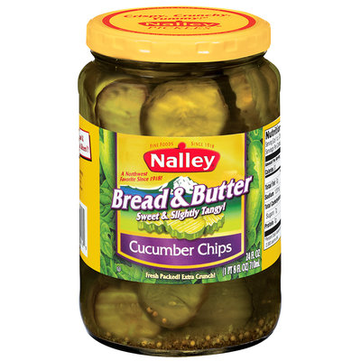 Nalley® Bread & Butter Cucumber Chip Pickles 24 fl. oz. Jar