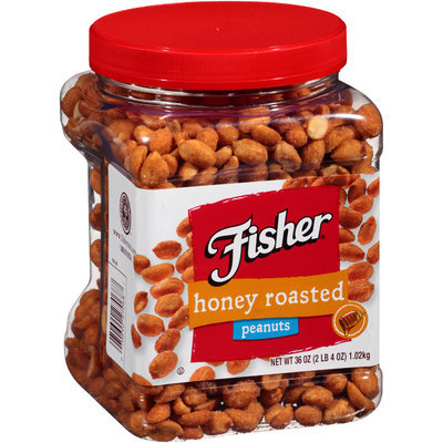 Fisher® Honey Roasted Peanuts 36 oz. Plastic Container