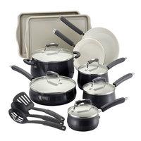 Meyer Corporation Paula Deen 17-pc. Savannah Collection Cookware set with Bakeware, Black