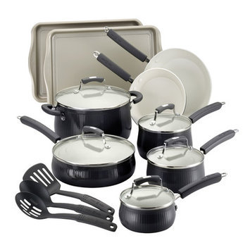 Meyer Corporation Paula Deen 17-pc. Savannah Collection Cookware set with Bakeware, Black